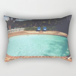 Two Chairs at the Pool Rectangular Pillow