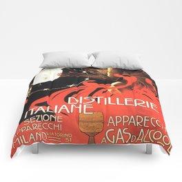 Vintage poster - Distillerie Italiane Comforters