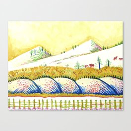 Tenderness Breaks Open the Earth Canvas Print