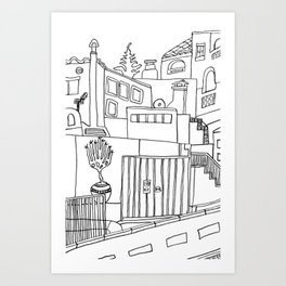 Old Town - Benalmadena Art Print