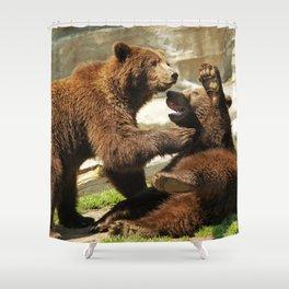 Playful Cubs Shower Curtain