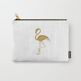 Gold Flamingo Carry-All Pouch