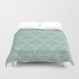 Decorative Mint Green Burlap Texture Pattern Duvet Cover