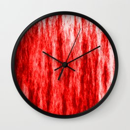 Bright texture of coated paper from red flowing waves on a dark fabric. Wall Clock