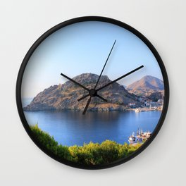 Behind The Castle Wall Clock