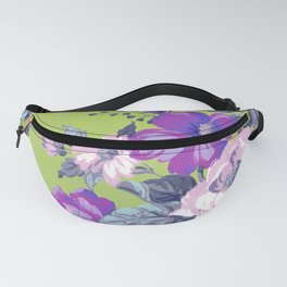 Saturated Vintage Floral Fanny Pack