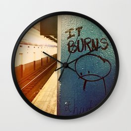 It Burns Wall Clock