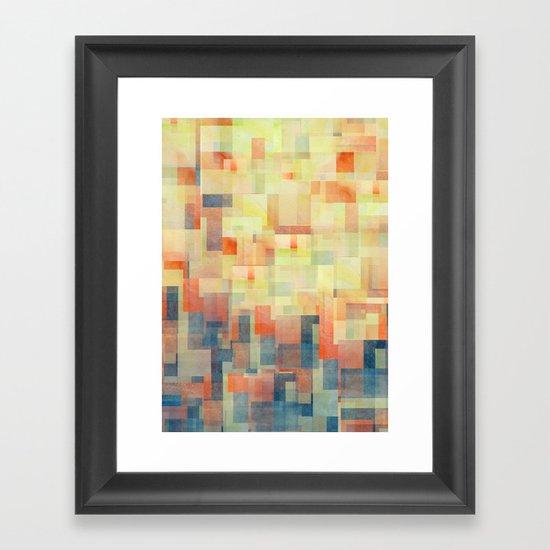 Cubism Dream (Brush Fire Remix) Framed Art Print