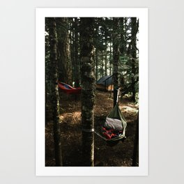 Hammocking Art Print