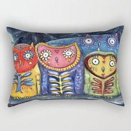Dia de Muertos Owl Party Rectangular Pillow