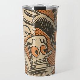 Bat Cat and Candle Travel Mug