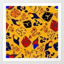 African Fancy 2 Art Print