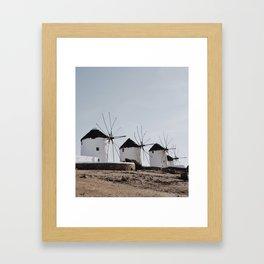 Windmills of Kato Milli - Mykonos Framed Art Print
