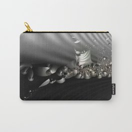 Storm of life renewal - Black and white with a hint of tint Carry-All Pouch