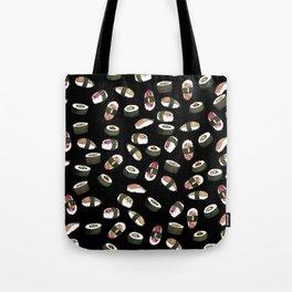 Sushi on Black Tote Bag