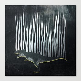 zebrex - the tyrex who wanted to become a zebra  Canvas Print