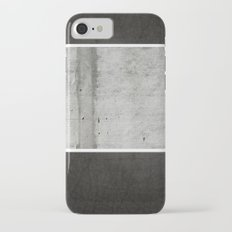 Raw Concrete and Black Leather iPhone 7 Slim Case