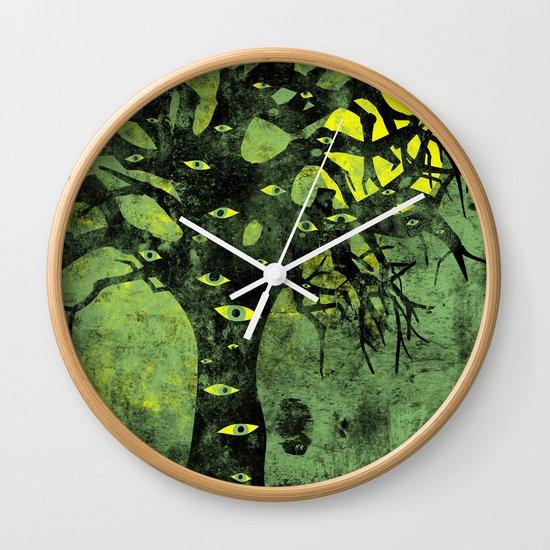 the Vision Tree (green) Wall Clock