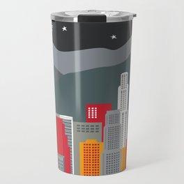 Los Angeles, California - Skyline Illustration by Loose Petals Travel Mug