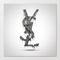 ysl Canvas Prints featuring YSL by Paul Trubas