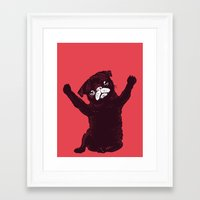hug Framed Art Prints featuring Hug by Huebucket
