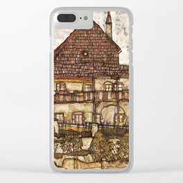 Egon Schiele - House with Shingle Roof, 1915 Clear iPhone Case
