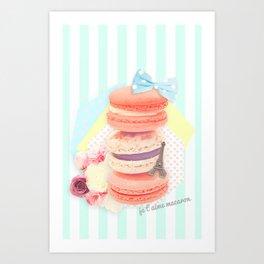 Je t'aime Macaron Art Print
