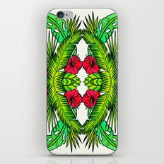 Palm Leaves and Hibiscus iPhone & iPod Skin