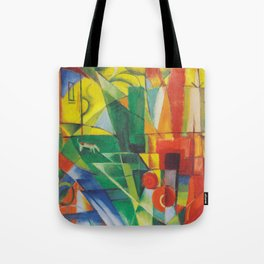 Landscape with House, Dog and Cow Tote Bag