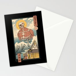 Titan In Edo Stationery Cards