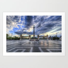 Heroes Square Budapest Art Print
