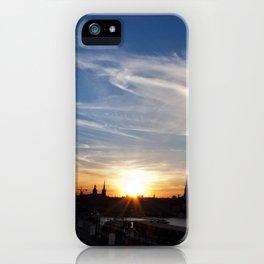 Stockholm sunset iPhone Case