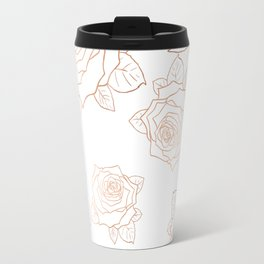 Metallic Roses Travel Mug