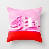 bauhaus Throw Pillows featuring Bauhaus · Das Bauhaus 5 by Marko Köppe