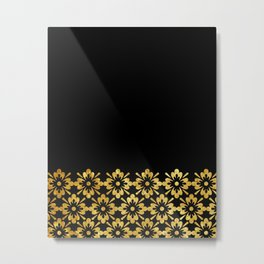 Simple black and gold pattern #society6 Metal Print