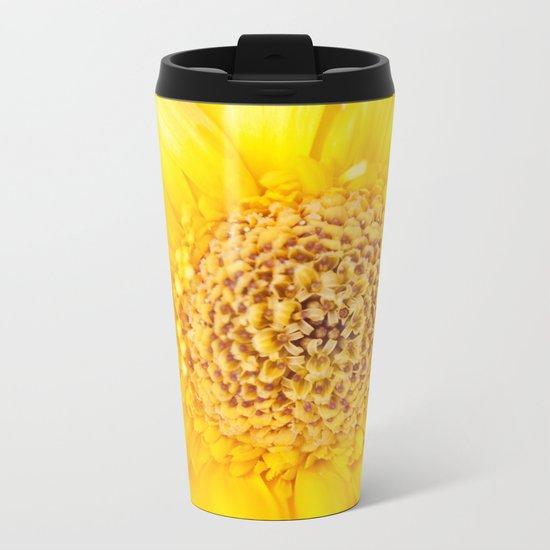 Sunny Summer Love - Yellow Gerbera #1 #decor #art #society6 Metal Travel Mug