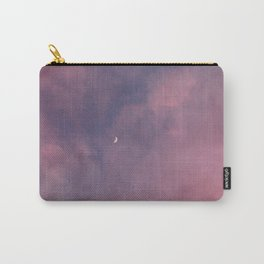 Crescent Moon and Pink Clouds Carry-All Pouch