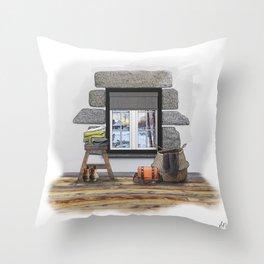 Winter Warm Up Throw Pillow