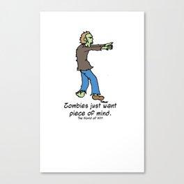 Zombie Zen Canvas Print