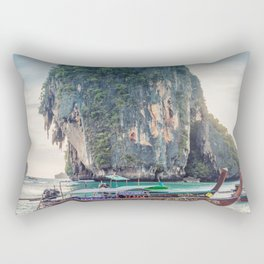 Boat in the sea Rectangular Pillow