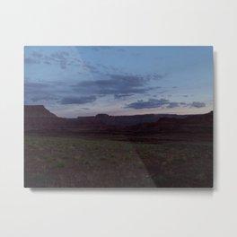 Sunset on Moab Trail Metal Print