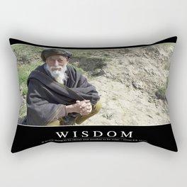 Wisdom: Inspirational Quote and Motivational Poster Rectangular Pillow