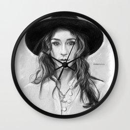 Troian Gray Sketch Wall Clock