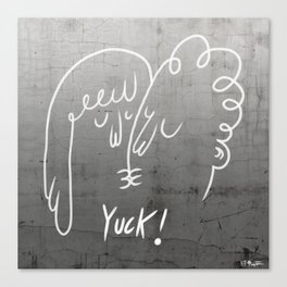 Yuck! by Peter Georgiou Canvas Print
