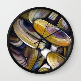 Razor Clams Wall Clock