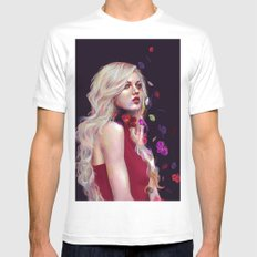 Orchid White MEDIUM Mens Fitted Tee