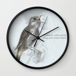 Sweet Philomel Wall Clock