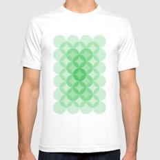 Geometric Abstraction III Mens Fitted Tee SMALL White