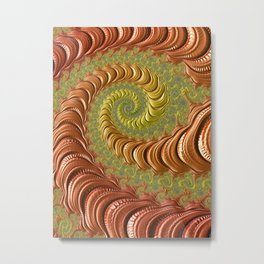 Bronze Twist - Fractal Art Metal Print