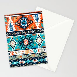Fancy abstract geometric pattern in tribal style Stationery Cards